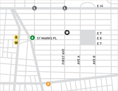 map of ps122 gallery neighborhood